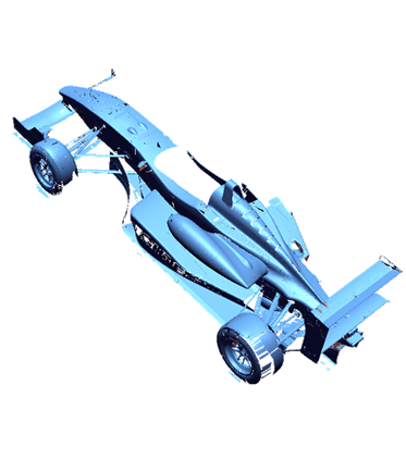 Racing car-scan data